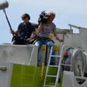 NDR-Filmteam beim Lohnunternehmen