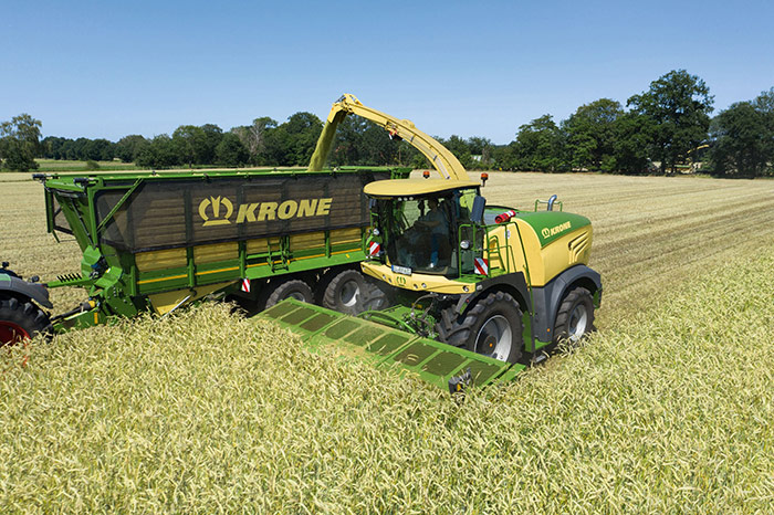 Im Projekt AGRILIGHT wird geprüft, wie das Gewicht der Rahmenstruktur am Beispiel des Big X deutlich verringert werden kann. Krone Foto