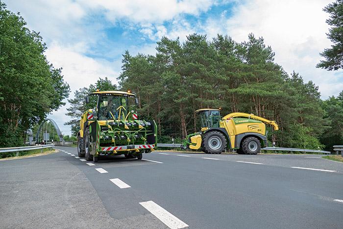 Alle aktuellen Big X Baureihen können mit 3 m Transportbreite realisiert werden. Foto Krone