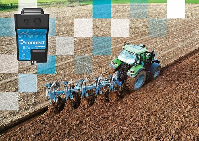 """Bild: Exakte Arbeit durch Automatik: Mithilfe von """"LEMKEN iQblue connect"""" können Arbeitsdaten von Anbaugeräten für die Traktorsteuerung genutzt werden."""